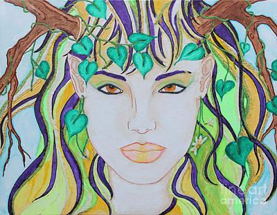Wyld Spring Spirit Art Print by Luanna Swaney