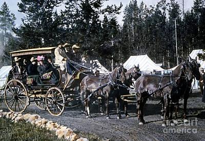 Wylie Coach Yellowstone National Park Art Print
