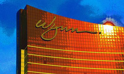 Painting - Wynn Las Vegas Sun Reflection by David Lee Thompson