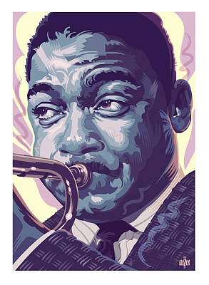 Musicians Paintings - Wynton Marsalis Portrait 2 by Garth Glazier