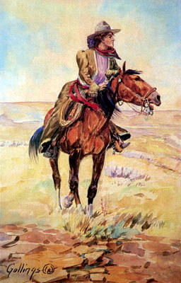 Gosling Painting - Wyoming Cowgirl, 1907 by Science Source
