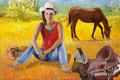 Breed Digital Art - Wyoming Girl by Sydne Archambault