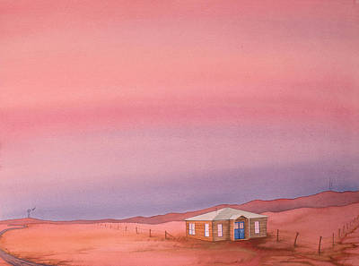 High Plains Painting - Wyoming Homestead by Scott Kirby