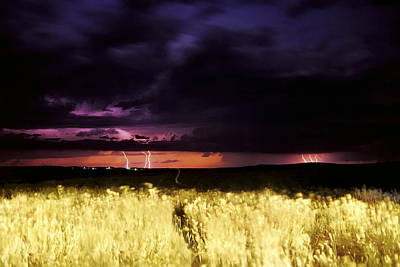 Photograph - Wyoming Lightning by Jason Politte