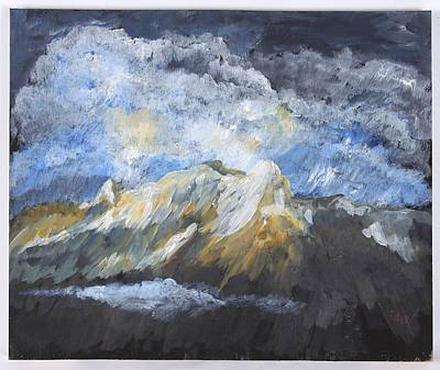 Painting - Wyoming Mountains by Clifford Brown