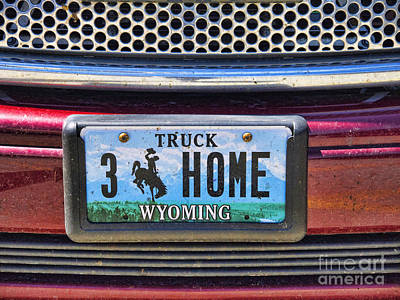 Photograph - Wyoming Plate by Brenda Kean