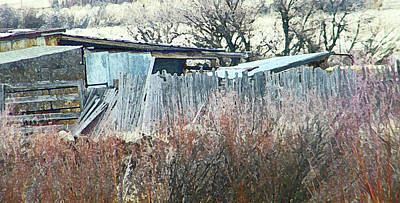 Wyoming Sheds Print by Lenore Senior
