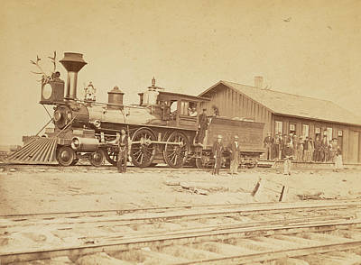 Wyoming Station Engine 23 On Main Track Wyoming Art Print by Litz Collection