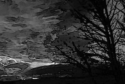 Wyoming Sunrise In Black And White Art Print