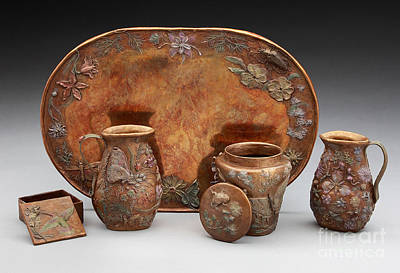 Sculpture - Wildflowers Bronze Set - Multi-colored Patina by Dawn Senior-Trask