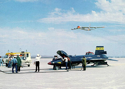 Aeronautics Photograph - X-15 Aircraft After Landing by Nasa