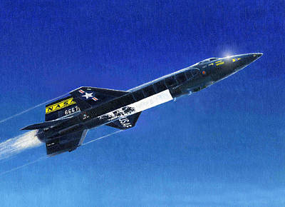 Painting - X-15 by Douglas Castleman