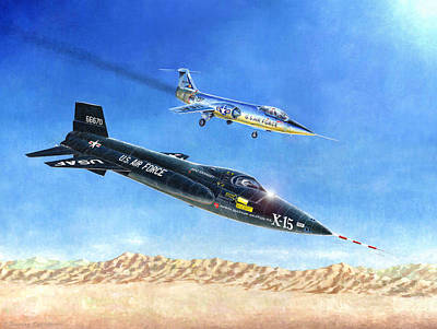 Painting - X-15 First Flight by Douglas Castleman