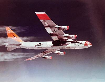 X-15 Mated To Its Mothership B52 Print by Nasa