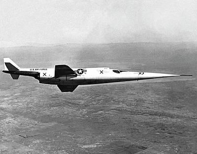 High Speed Photograph - X-3 Stiletto Experimental Aircraft by Nasa Photo / Naca/nasa