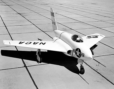 High Speed Photograph - X-4 Bantam Experimental Aircraft by Nasa Photo / Naca/nasa