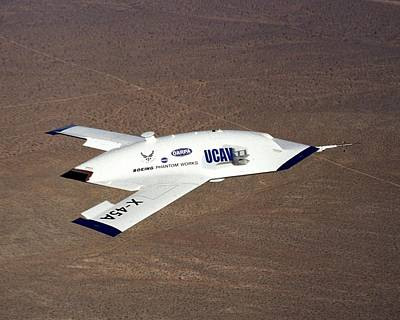 Uca Photograph - X-45a Unmanned Combat Air Vehicle by Science Photo Library