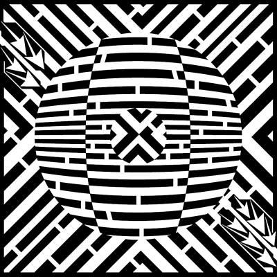 X - Dvd Maze Art Print by Yonatan Frimer Maze Artist
