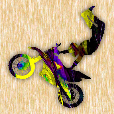Photograph - X Games Dirt Bike Stunt by Marvin Blaine