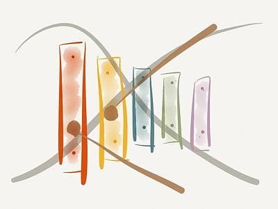 Xylophone Digital Art - X Is For... by Barbara Bellissimo