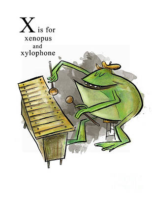 X Is For Xenopus Art Print