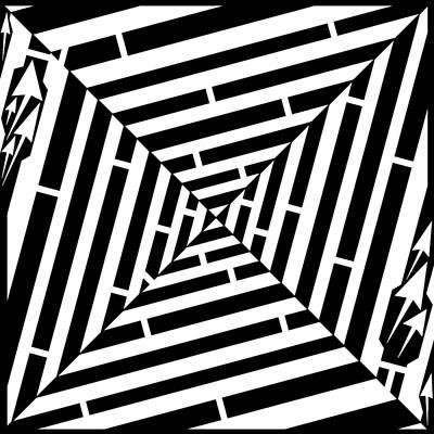 Alphabet Mazes Drawing - X Marks The Maze by Yonatan Frimer Maze Artist
