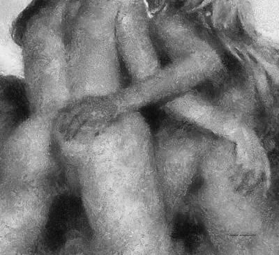 X Marks The Spot Erotica Bw Art Print