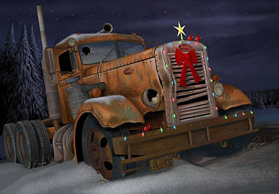 Digital Art - X-mas Pete by Stuart Swartz