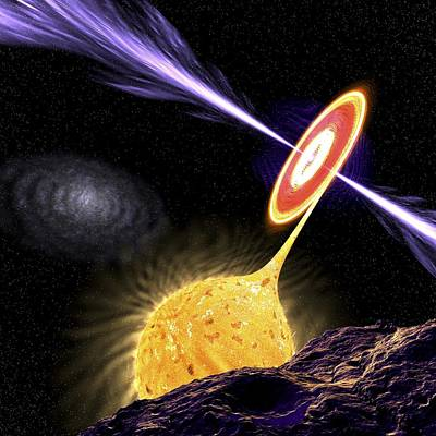 X-ray Binary Photograph - X-ray Binary System, Artwork by Science Photo Library