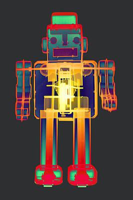 X-ray Robot Bb No.1 Art Print by Roy Livingston