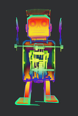 Giant Robot Photograph - X-ray Robot With Spring No.1 by Roy Livingston