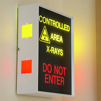 X-ray Room Warning Box Print by Public Health England