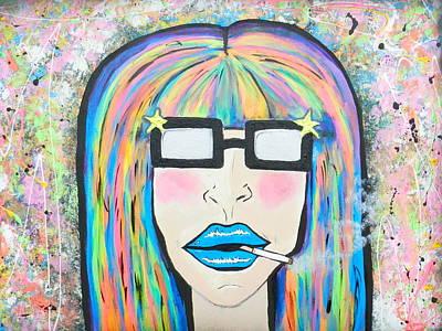 Disco Mixed Media - X-tina by Dani Caccs