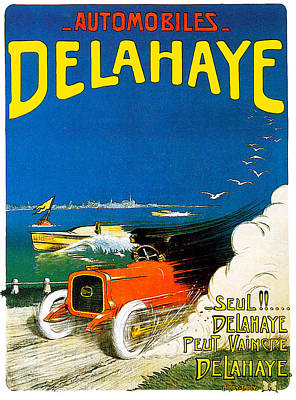 Photograph - Delahaye Automobiles by Vintage Automobile Ads and Posters