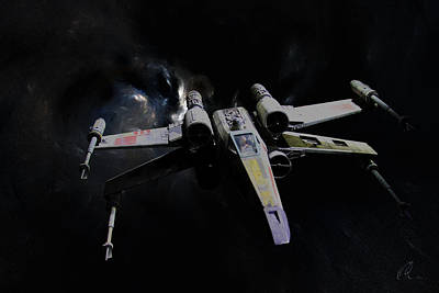 Digital Art - X Wing Fighter 1 by Chris Thomas