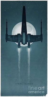 X Wing Fighter Art Print by Baltzgar