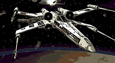 Painting - X Wing by George Pedro