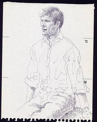 Xabi Alonso Painting - Xabi Alonso Sitting by Line Arion