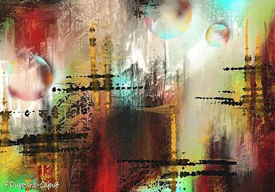 Abstract Digital Painting - Xanadoo by Francoise Dugourd-Caput