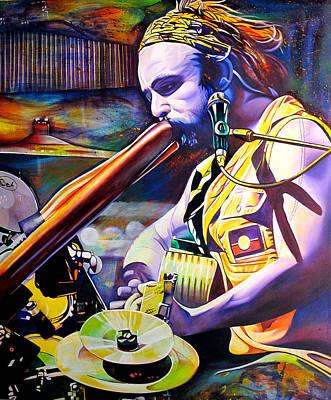 Xavier Rudd Art Print by Joshua Morton