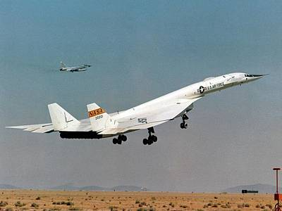 High Speed Photograph - Xb-70 Valkyrie Supersonic Test Bomber by Nasa
