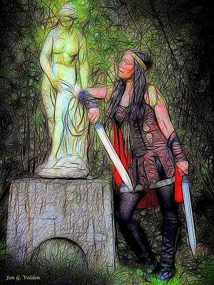 Photograph - Xena And The Magic Statue by Jon Volden