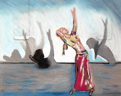 Shadow Dancing Drawing - Xenia Dance 1 by Ayasha Loya