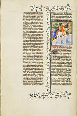 Xerxes, King Of The Persians, Crosses A Bridge Art Print