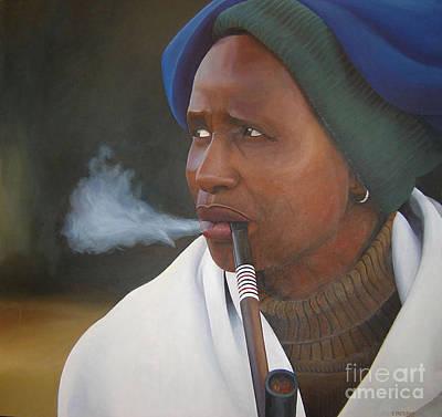 Beadwork Painting - Xhosa Woman by Edgar Pretorius