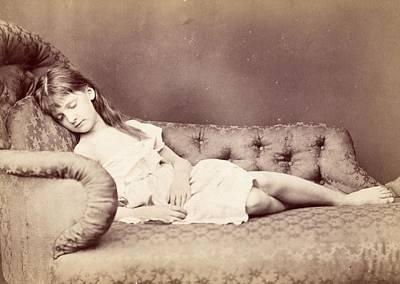 Xie Sleeping, 1874 Print by Lewis Carroll