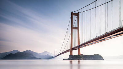 Bay Photograph - Xihou Bridge & Moon Bay by Qing Ai