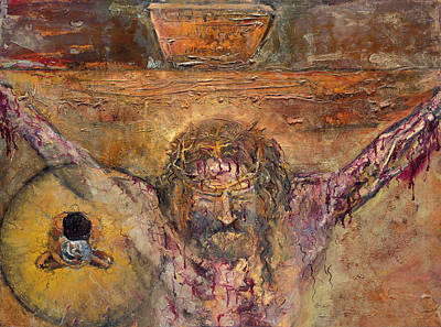 Xii Station Jesus Dies On The Cross Art Print