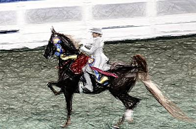 Xiv I - World Championship Horse Show - Louisville Ky Art Print by Thia Stover
