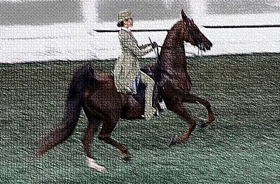 Xivd - World Championship Horse Show - Louisville Ky Art Print by Thia Stover